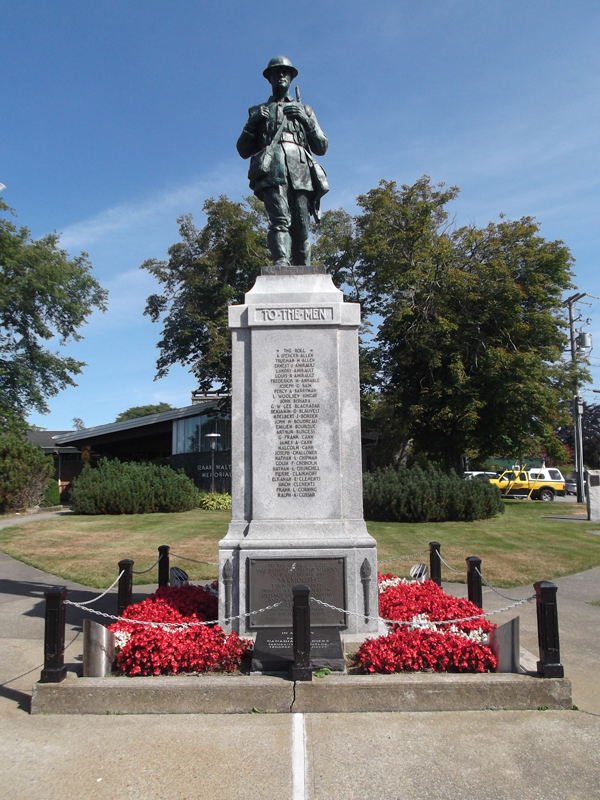 """War Memorial– Tpr Corey Hayes is commemorated on the War Memorial Yarmouth, NS  Copyright © 2017 by T.L. Skelding. All rights reserved. The photograph(s) may be used solely for personal, informational, and internal purposes. The photograph(s) may not be modified or altered in any way OR posted on any other web-site for any purpose whatsoever. I request to be notified where the image is being used and that the tag """"Courtesy The Mounted Dragoon. Copyrighted Image. Used with Permission."""" is added to every image."""