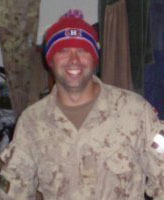 Photo of Thomas James Hamilton– Taken in Afghanistan in the fall of 2008