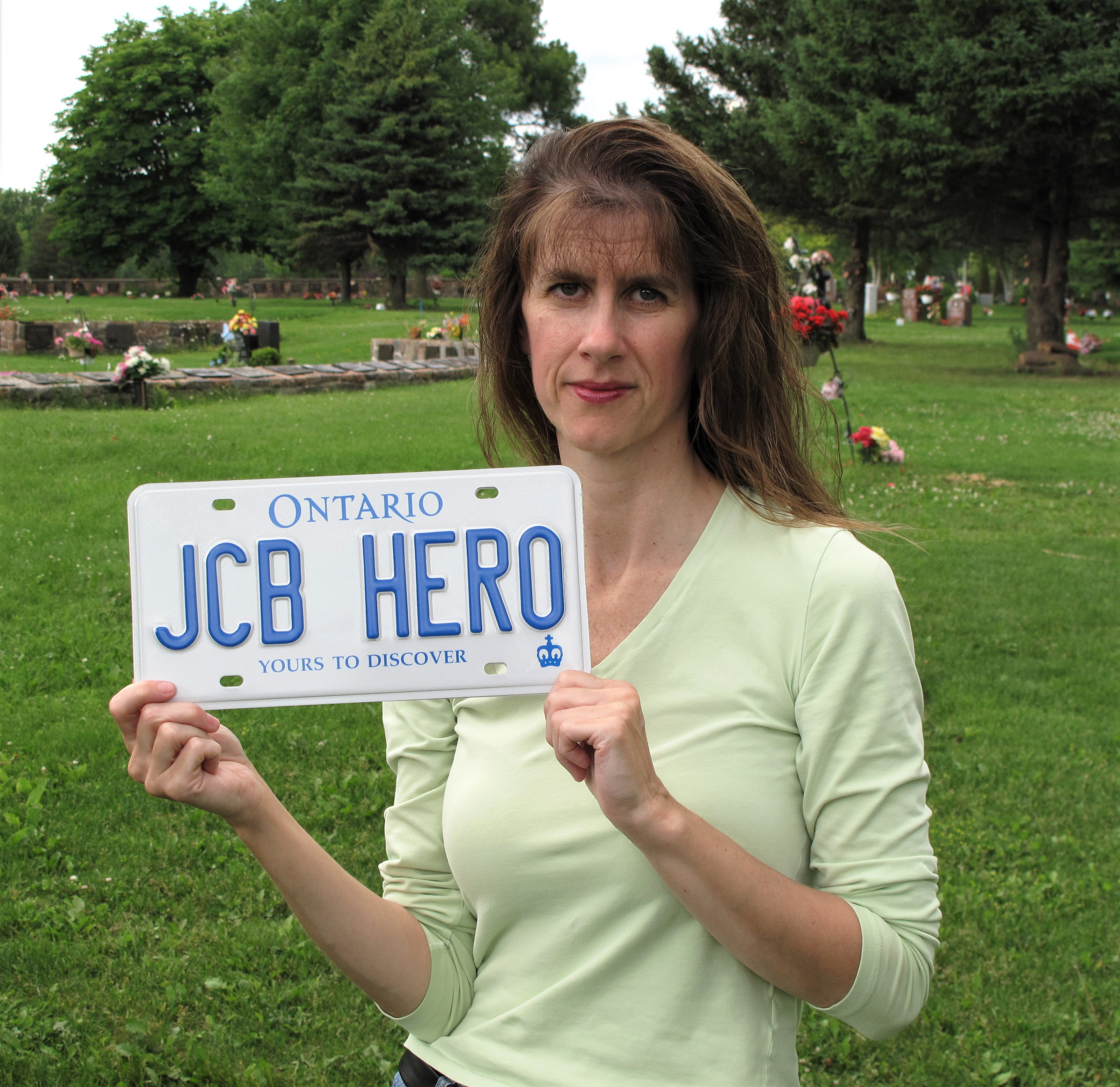 Memorial– For Joshua's Birthday In 2010 I Honoured Him By Personalizing My License Plate - He Will Always Be Mom's Hero - Love, Mom
