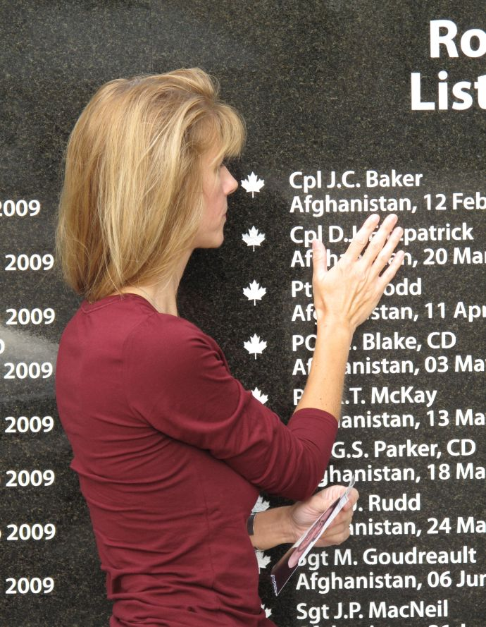 Inscription– Another Monument That Brings Great Sorrow Because My Son Should Be Alive And Not A Name On A Wall. I Love And Miss You, Joshua. Love, Mom