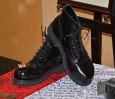 Memorial– These Were Joshua's Dress Boots On Display At His Tribute.