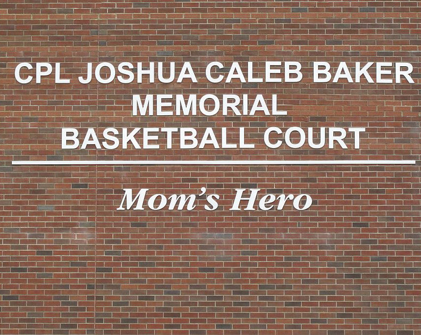 Memorial– Joshua's Legacy Begins - Joshua And I Both Attended Ellesmere-Statton Public School And Because Of That, It Held A Very Special Meaning To Me As His Mother. After Meeting With The Principle And Discussing What Could Be Done To Best Honour Joshua We Decided A Brand New Basketball Court Was The Perfect Legacy To Represent The Ultimate Sacrifice He Made For His Country. On September 12th, 2013 This Basketball Court Was Dedicated In Joshua's Honour.