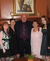 Family Photo– Taken 3 years ago at his niece's wedding....His daughter Marisa, sisters Joan and Colleen also niece Sonya......great that he could attend.....A memory i am sure well live in  the hearts of all who enjoyed his company.....