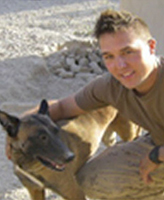 Private Tyler William Todd and dog