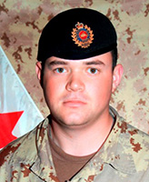 Photo of Brian James Collier– Portrait of Sapper B.J. Collier, 1 Combat Engineer Regiment. (Image credit: Department of National Defence.)