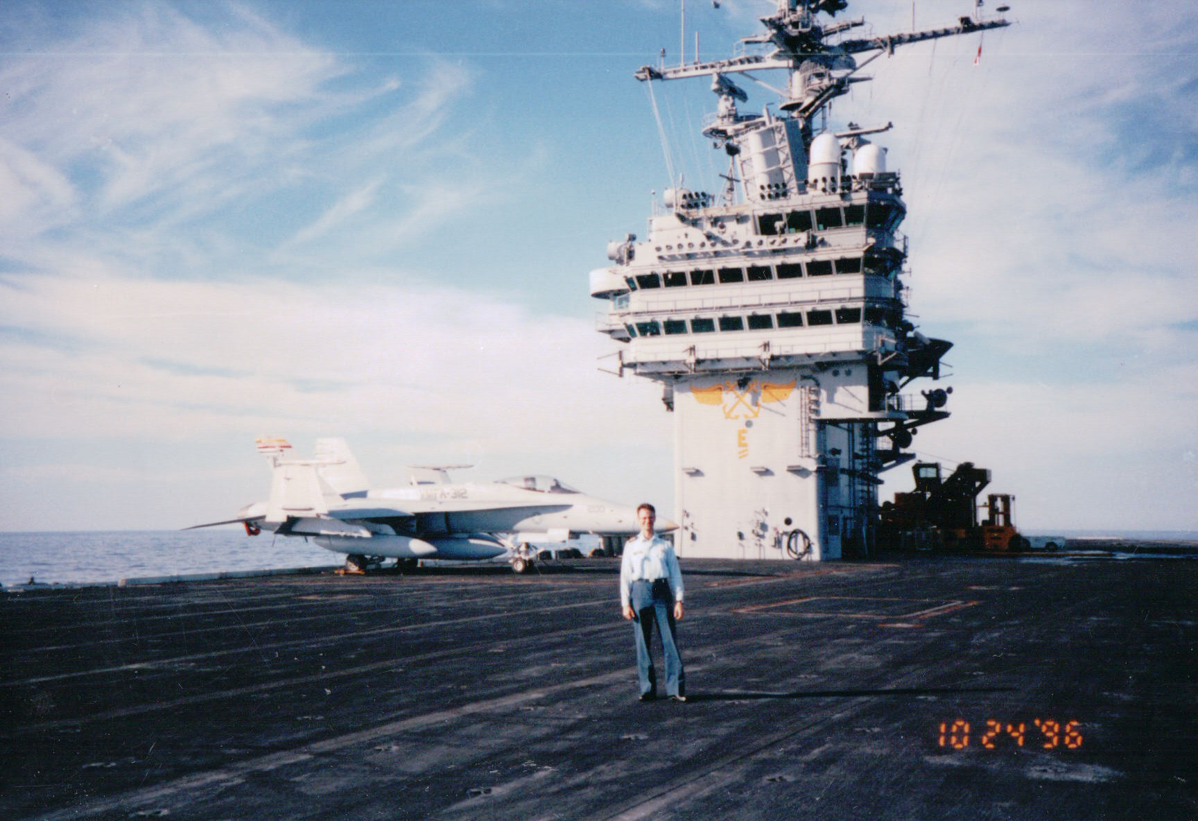 Photo of Carl Walker– Carl Walker Senior Medical Officer on the USS Theodore Roosevelt (CVN-71) in 1997