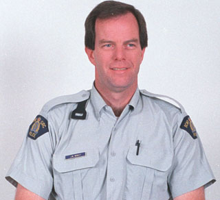 Photo of Jean Minguy– RCMP Cst. Jean Minguy - Drowned on duty 3 June 2005 on marine patrol in Okanagan Lake, BC.