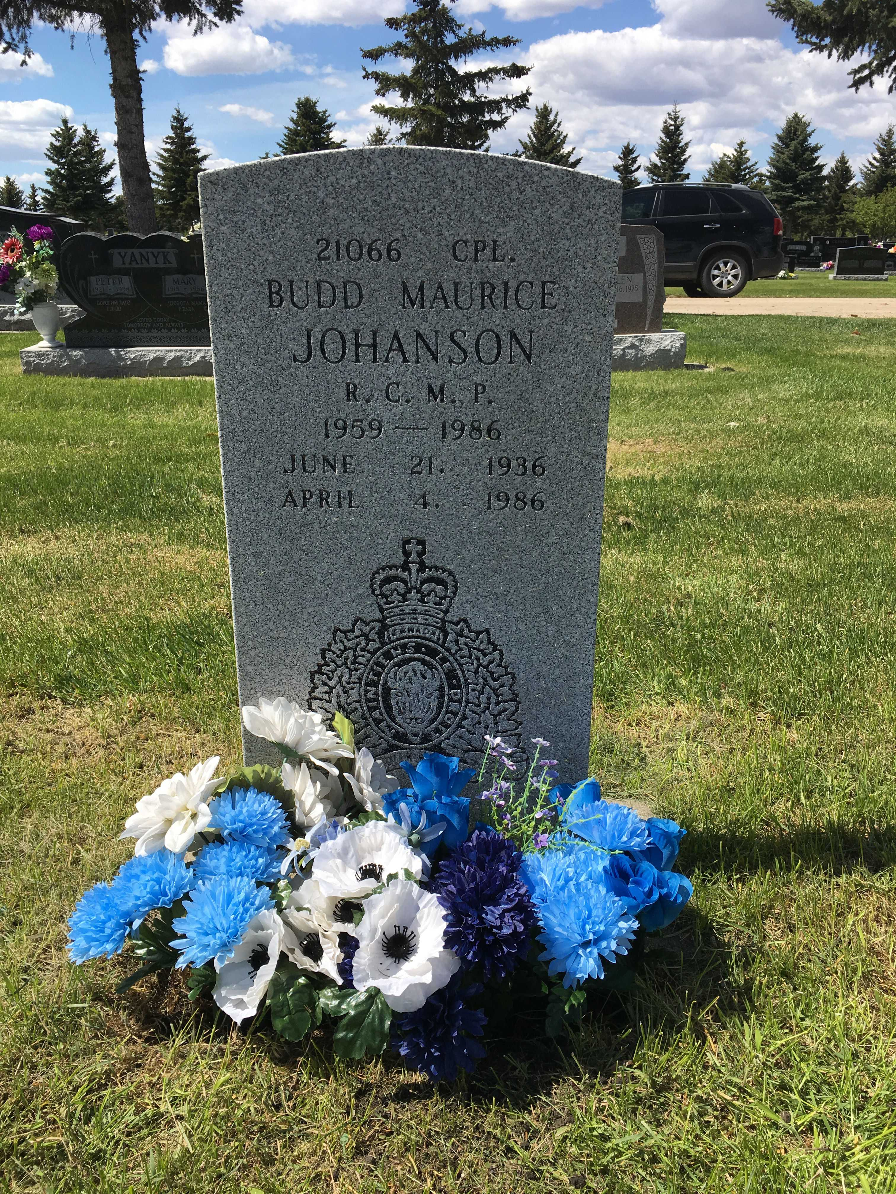 Grave Marker– Annual flower refresh in tribute.