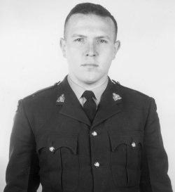 Gendarme de troisième classe Philip John Francis Tidman – © Sa Majesté la Reine du chef du Canada représentée par la Gendarmerie royale du Canada