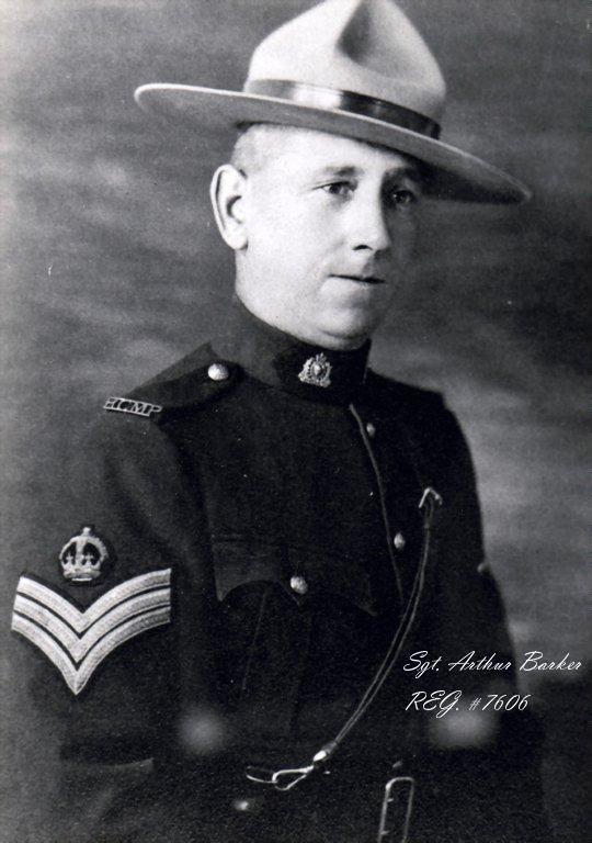 Sergent Arthur Julian Barker – © Sa Majesté la Reine du chef du Canada représentée par la Gendarmerie royale du Canada