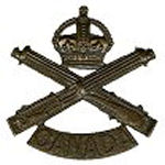 Badge– Cap Badge of the Canadian Machine Gun Corps.  Sgt Albert Ernest Adams enlisted with the 134th Bn (48th Highlanders of Canada), but was transferred to the Canadian Machine Gun Corps as a reinforcement.  Submitted by Capt  S. Gilbert, 15th Bn Memorial Project team.  DILEAS GU BRATH
