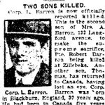 Newspaper Clipping– Clipping from the Toronto Star for 2 April 1917.