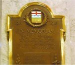 Commemorative Plaque– Plaque dedicated to the memory of all Alberta civil servants killed serving their country during the First and Second World War. This Plaque is proudly displayed in the main entrance of the Alberta Legislature.