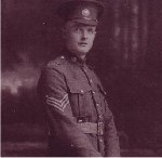 Photo of George Batters– Picture taken in Galt, Ontario (his parent's home) on August 10, 1916 - the day before he left for England.  He had been working in Alberta and had joined the 138th Battalion in November 1915.  He would have been 26 in September 1917.  He had been transferred to the 49th Battalion in which he was serving when he was killed.