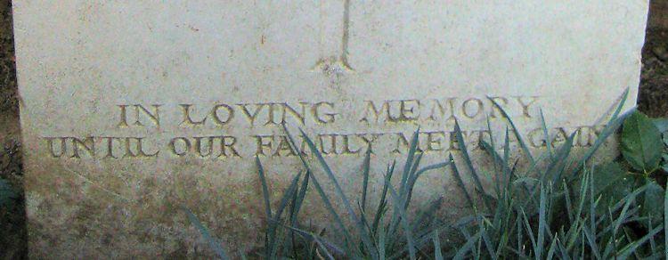 Inscription– Epitaph  (John & Anne Stephens 2013)