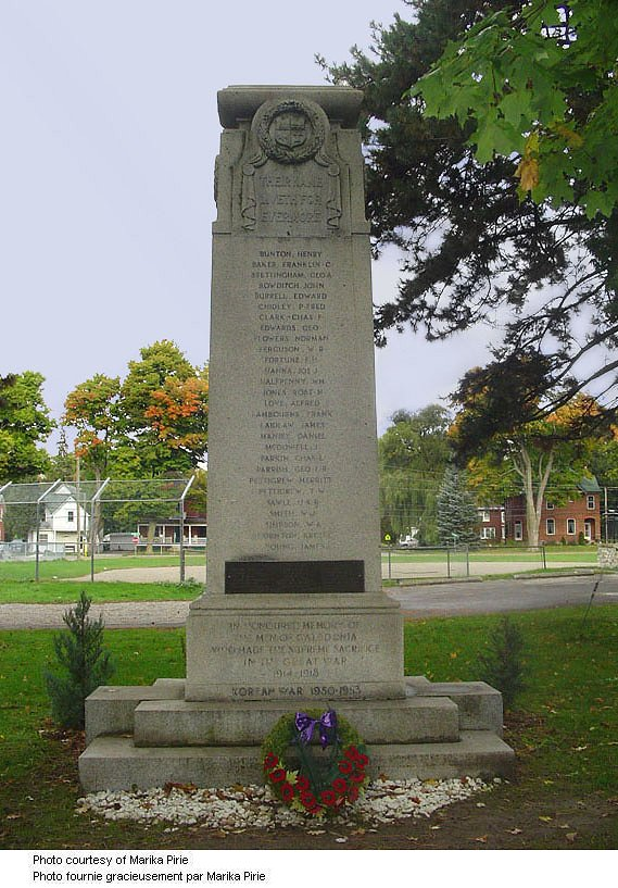 Caledonia Ontario War Memorial