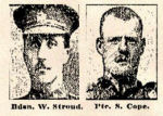 Newspaper Clipping– Pte. Sidney James Cope was born in Rushden, Northamptonshire, England.  He enlisted in the Royal Canadian Regiment at Halifax, Nova Scotia, on August 22nd, 1915.  In honoured memory of a hero of Vimy Ridge.