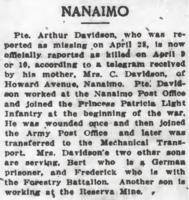 Newspaper clipping– From the Daily Colonist of May 19, 1917. Image taken from web address of http://archive.org/stream/dailycolonist59y138uvic#page/n0/mode/1up