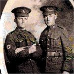 Photo 2 of George Alfred Harwood– This is George with his brother Ralph in England circa Dec. 1916