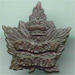 Hat Badge– This is George's Hatbadge. 2nd CMR (Canadian Mounted Rifles)
