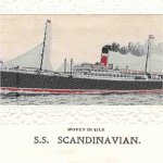 SS Scandinavian– This is the SS Scandinavian which George went overseas on in August 1916