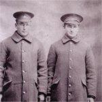 Photo of Henry Kostuk and John Kostuk– Henry Kostuk and John Kostuk of 114th Bn. John was killed in the line of duty.