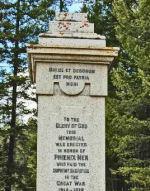War Memorial– Memorial at Phoenix, British Columbia.