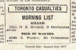 Newspaper Clipping– Casualty List