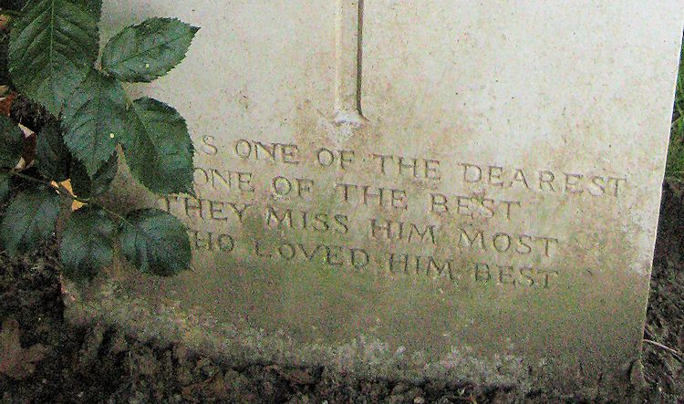 Inscription– Epitaph  (John & Anne Stephens 2013)