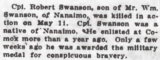 Newspaper clipping– From the Daily Colonist of May 25, 1917. Image taken from web address of http://archive.org/stream/dailycolonist59y143uvic#page/n0/mode/1up