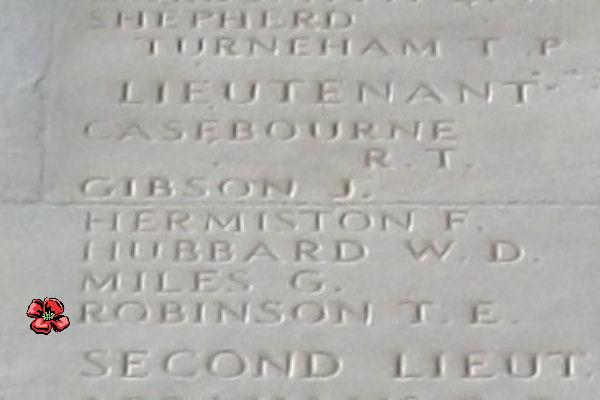 Inscription– Thiepval Memorial - April 2017 … photo courtesy of Marg Liessens