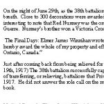 Biography - page 3– Biography courtesy of the Lest We Forget remembrance initiative of the Smith Falls District Collegiate.