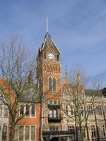 Town Hall– This is the Town Hall, Burton-on-Trent, Staffordshire.  There is a Roll of Honour inside on which Fred's name is commemorated.