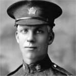 Photo of Bert Ball– Bert Ball joined the 51st Btn. in Edmonton, Alberta Jan. 26, 1915.  Of the eight brothers and brothers in law, three did not return.