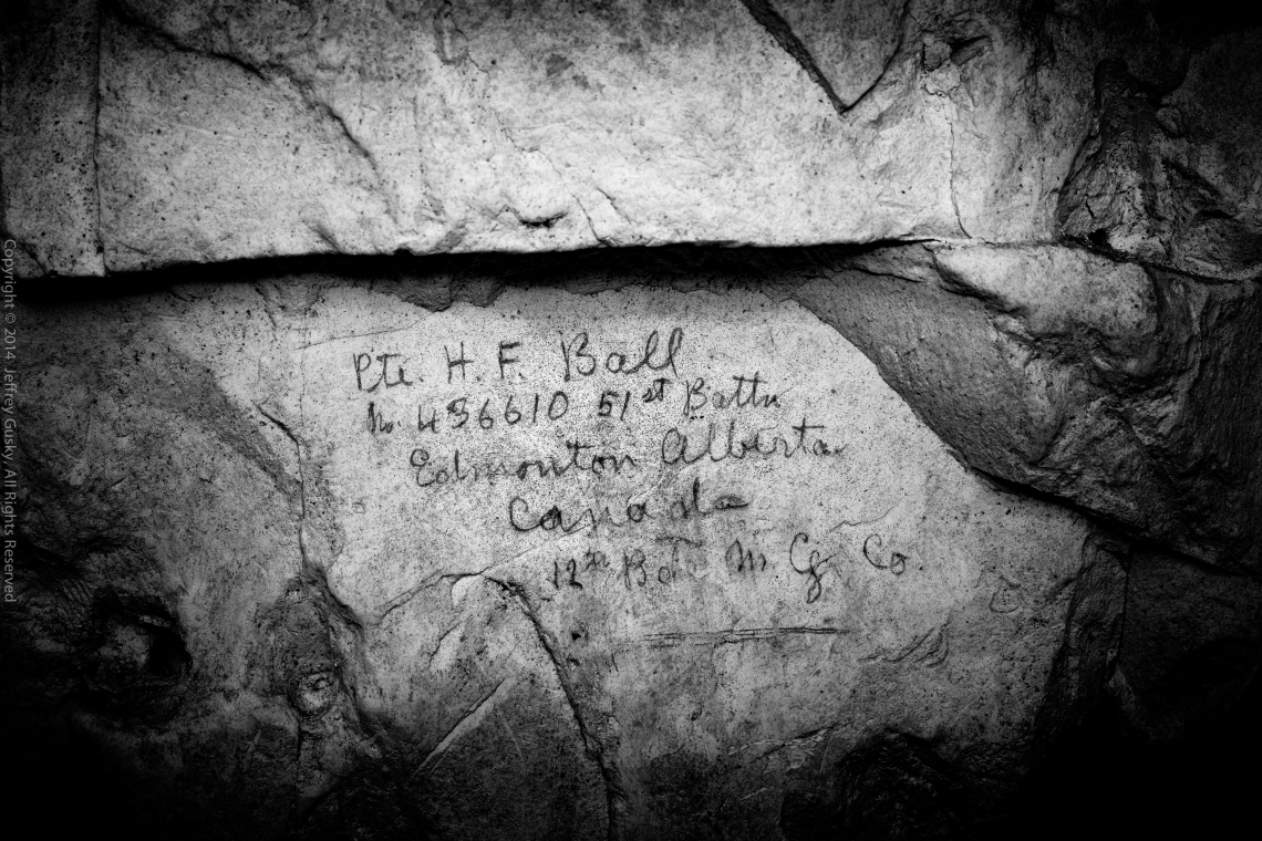 Inscription– Cave drawing made by Herbert Ball while in France