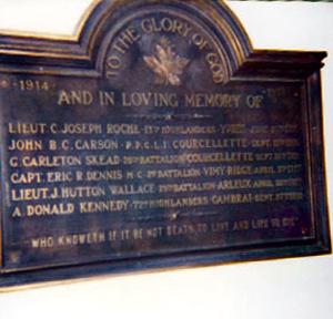 Memorial– St Andrews United, Halifax, N.S