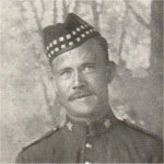 Photo of Robert Palmer Crawford– Enlisted with the 37th Battalion at Sault Ste. Marie,on January 1, 1915. Tranferred to the 48th Highlanders, Machine Gun Section, 15th Battalion, 3rd Brigade. Killed in action at the Somme.