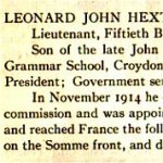 """Newspaper Clipping– From the """"University of Toronto / Roll of Service 1914-1918"""", published in 1921."""