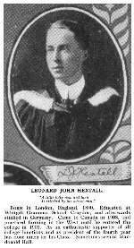 Photo of Leonard Hextall– Torontonensis 1913 (University of Toronto Year Book), pg. 214.