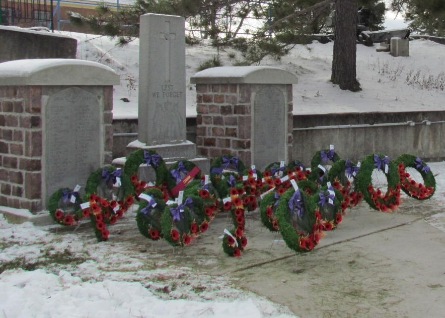 War Memorial– Cenotaph, Major Edward J Holland VC Memorial Park, Cobalt Ontario.  Photo by Ken Riley