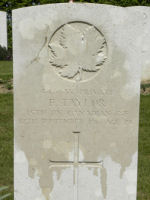 Grave marker– Gravemarker. Photo BGen G. Young 15th Battalion Memorial Project Team   DILEAS GU BRATH.