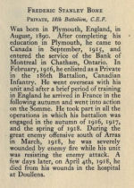 Biography– From Memorial from the Great War 1914-1918: a record of service published by the Bank of Montreal 1921.