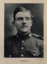 Photo of Frederick Bone– From Memorial from the Great War 1914-1918: a record of service published by the Bank of Montreal 1921.