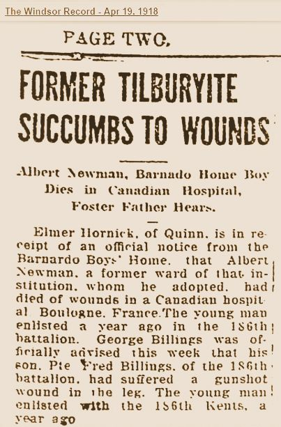 Newspaper Clipping– News clipping regarding the notification to his former employer that Albert had fallen.