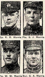 Newspaper Clipping– In honoured memory of the Morris brothers.