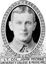 Photo of John McCrae– From: The Varsity Magazine Supplement Fourth Edition 1918