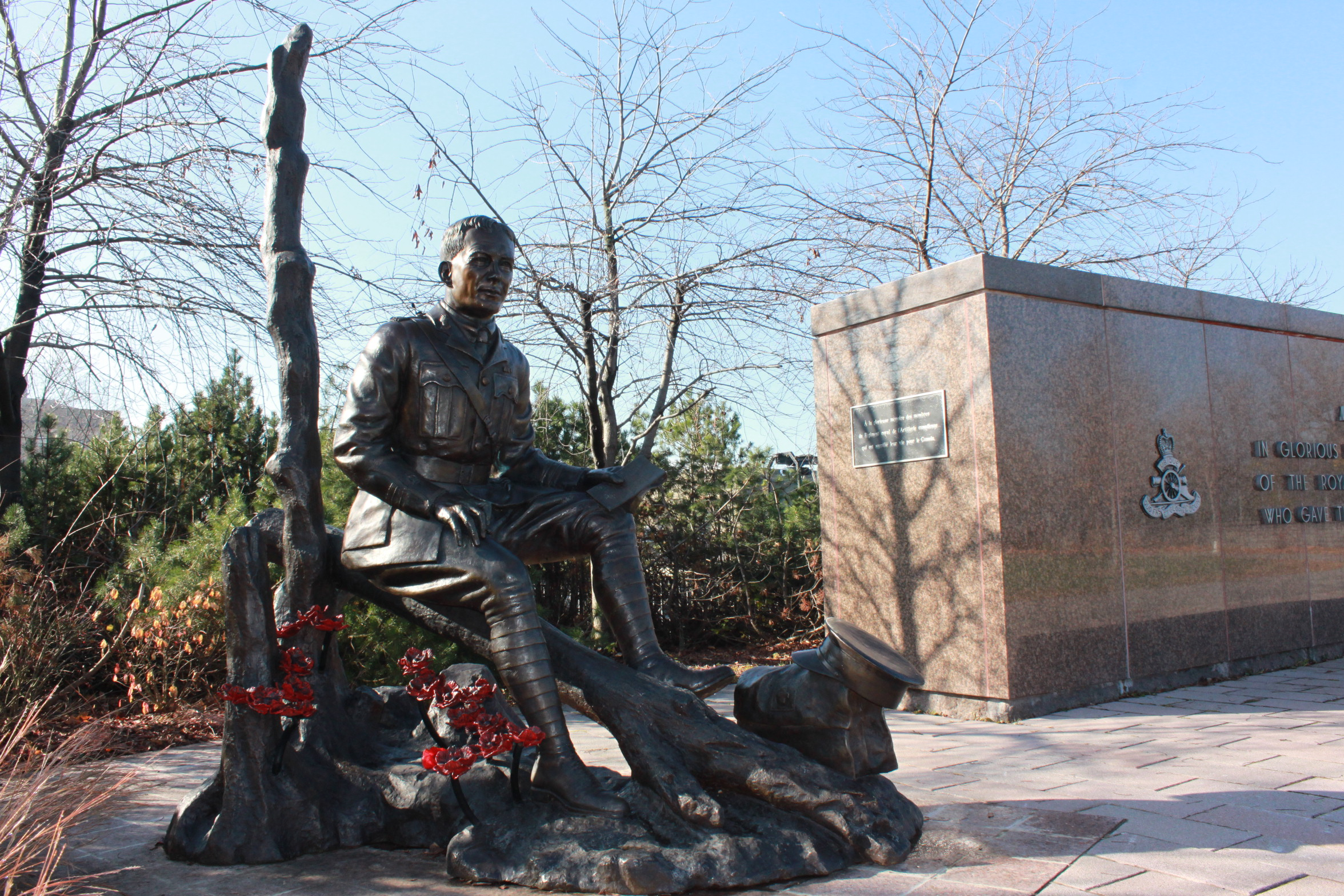 Memorial– This statue is located on Green Island, Sussex Drive, Ottawa, Ontario.