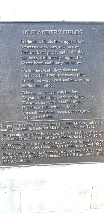 Plaque– Aid Station Monument bronzed poem