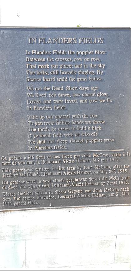 Plaque – Poème sur le Monument au poste de secours