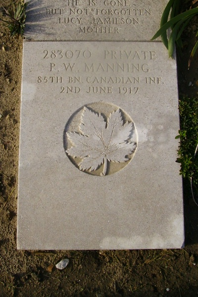 Grave Marker– Grave marker - Wimereux Communal Cemetery … photo courtesy of Marg Liessens